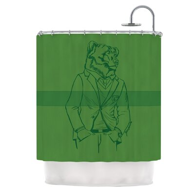Dapper Bear by Geordanna Cordero-Fields Animal Shower Curtain