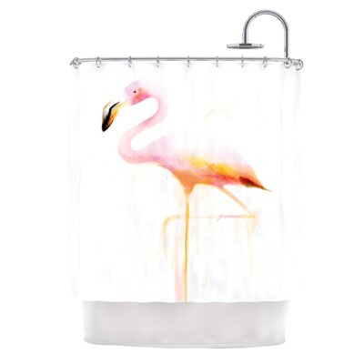 My Flamingo by Geordanna Cordero-Fields Shower Curtain
