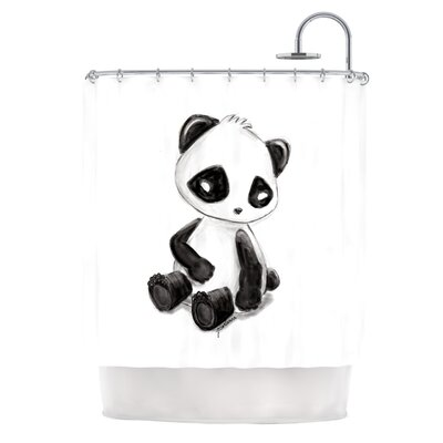 My Panda Sketch by Geordanna Cordero-Fields Shower Curtain