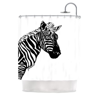 My Zebra Head by Geordanna Cordero-Fields Shower Curtain