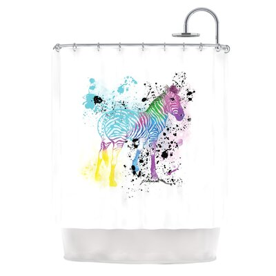 My Zebra by Geordanna Cordero-Fields Shower Curtain