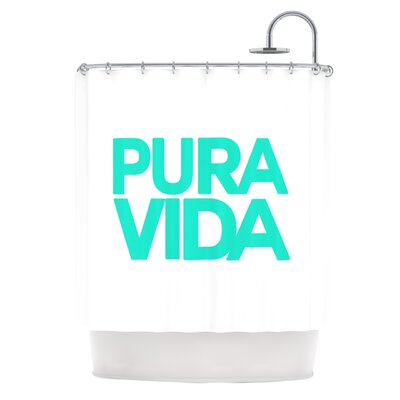 Turquoise Pura Vida by Geordanna Cordero-Fields Shower Curtain