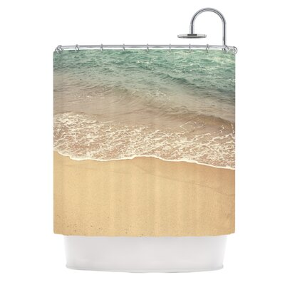 Waves Roll In by Jillian Audrey Shower Curtain