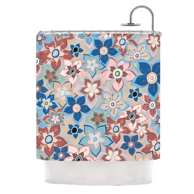 Marsala Floral Mix by Jolene Heckman Shower Curtain