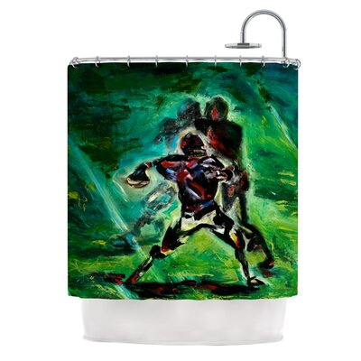 1st & 10 by Josh Serafin Baseball Shower Curtain