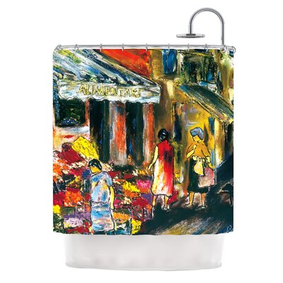 Alimentari by Josh Serafin Painting Shower Curtain