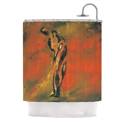 Chip by Josh Serafin Golf Player Shower Curtain