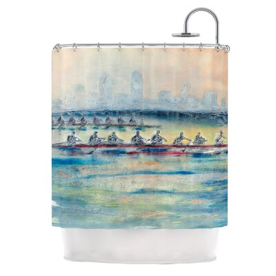 Crew by Josh Serafin Rowing Shower Curtain