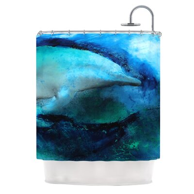 Dolphin by Josh Serafin Shower Curtain