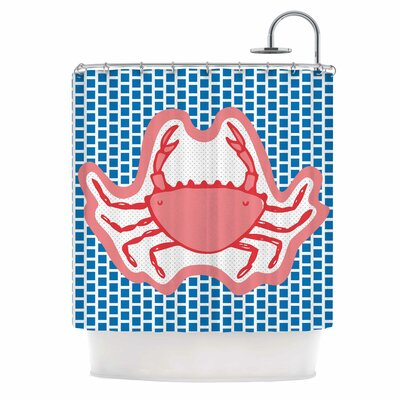 Cangrejo by MaJoBV Crab Shower Curtain