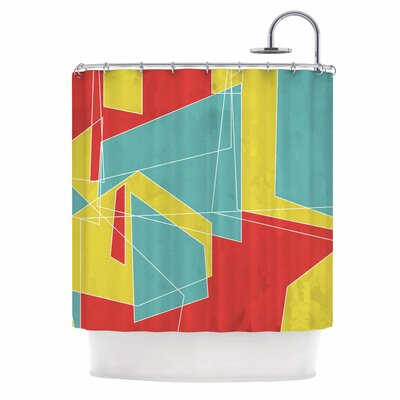 Cartagena Walls by MaJoBV Geometric Shower Curtain