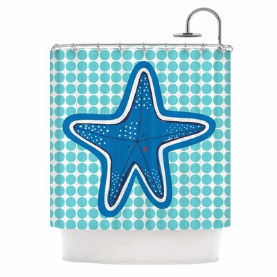 Estrella De Mar by MaJoBV Starfish Shower Curtain