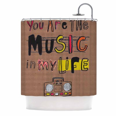 Music In My Life by MaJoBV Quote Shower Curtain