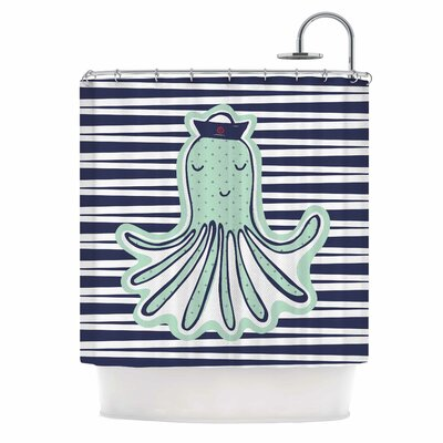 Pulpo by MaJoBV Octopus Shower Curtain