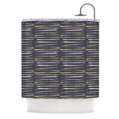 Rosewall Thorns by MaJoBV Stripes Shower Curtain