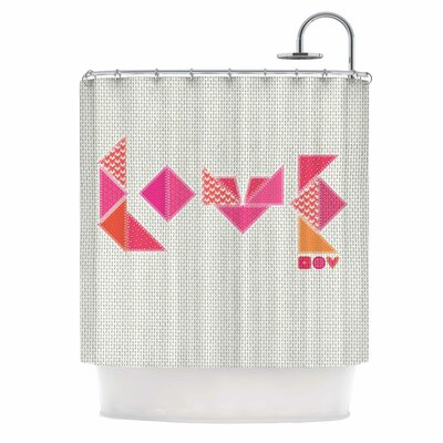 Stitched Love by MaJoBV Geometric Shower Curtain
