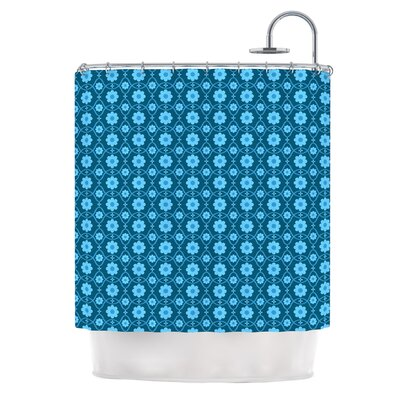 Floral by Nandita Singh Shower Curtain Color: Aqua