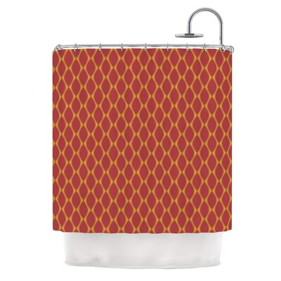 Marsala by Nandita Singh Shower Curtain Color: Red/Mustard