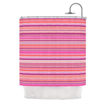 Ribbons by Nandita Singh Blush Shower Curtain