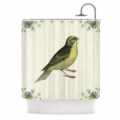 Vintage Bird 2 by NL Designs Animals Shower Curtain