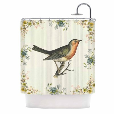 Vintage Bird 3 by NL Designs Shower Curtain