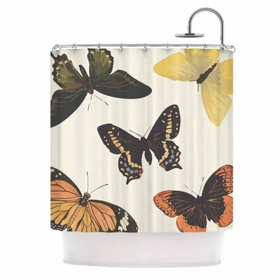 Vintage Butterflies by NL Designs Shower Curtain