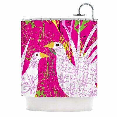 Fruit Birds by Pattern Muse Shower Curtain