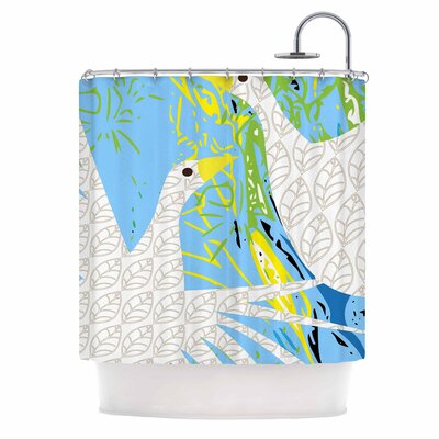 Pond Birds by Pattern Muse Shower Curtain