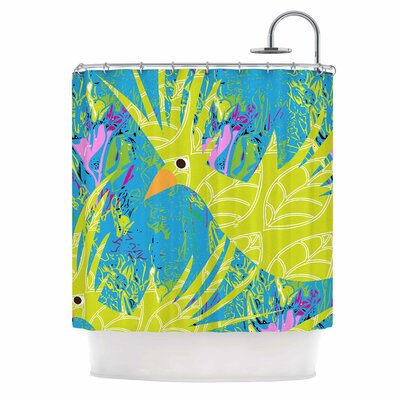 Tropical Fly-by by Pattern Muse Shower Curtain