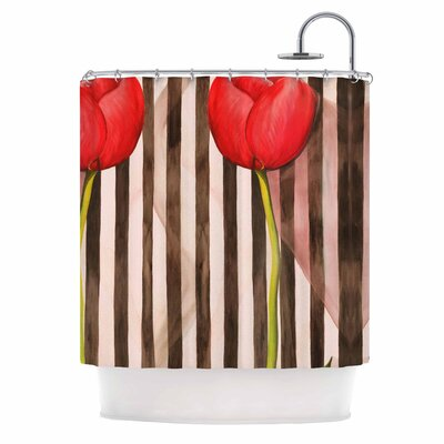Classic rose by S Seema Z Stripes Shower Curtain