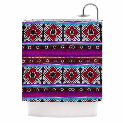 Sindhi Ajrak by S Seema Z Shower Curtain