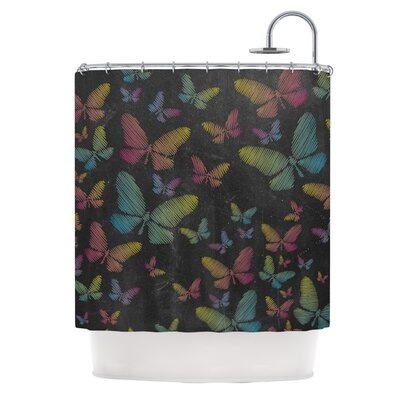 Butterflies II by Snap Studio Pastel Chalk Shower Curtain