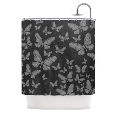 Butterflies III by Snap Studio Chalk Shower Curtain