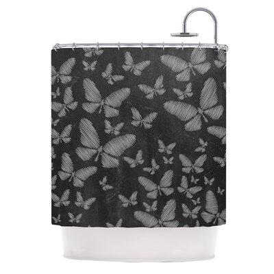 Butterflies III by Snap Studio Chalk Shower Curtain