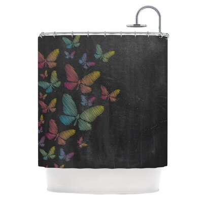 Butterflies by Snap Studio Pastel Chalk Shower Curtain