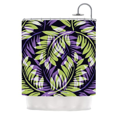 Dark Fern by Alison Coxon Shower Curtain