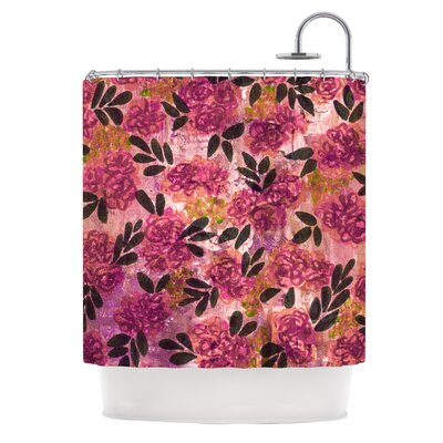 Grunge Flowers II by Ebi Emporium Floral Shower Curtain