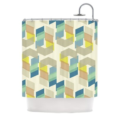 Kobob Chevron by Gukuuki Geometric Shower Curtain