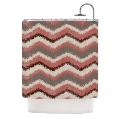 Fuzzy Chevron by Heidi Jennings Shower Curtain