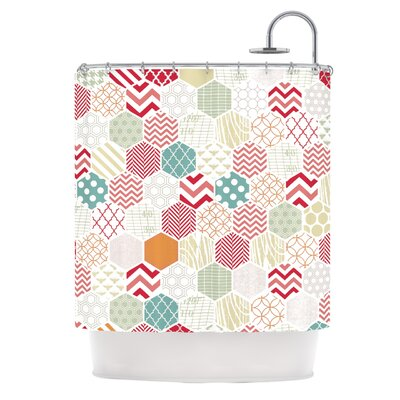 Geo Pastel by Heidi Jennings Geometric Shower Curtain