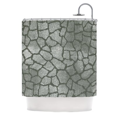 Gray Snake Skin by Heidi Jennings Shower Curtain