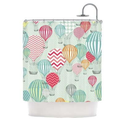 Hot Air Baloons by Heidi Jennings Shower Curtain