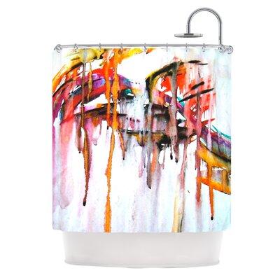 Cascade by Malia Shields Shower Curtain