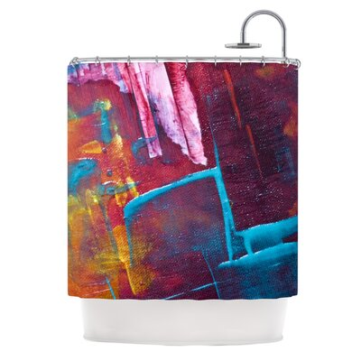 Cityscape Abstracts II by Malia Shields Painting Shower Curtain