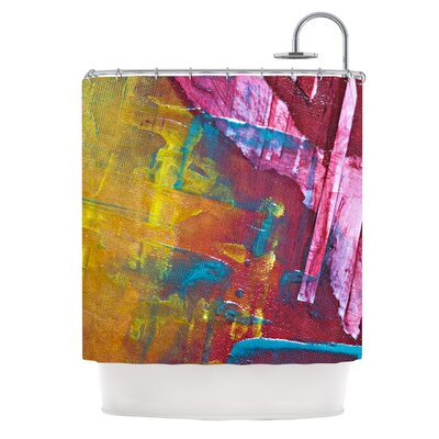 Cityscape Abstracts III by Malia Shields Shower Curtain