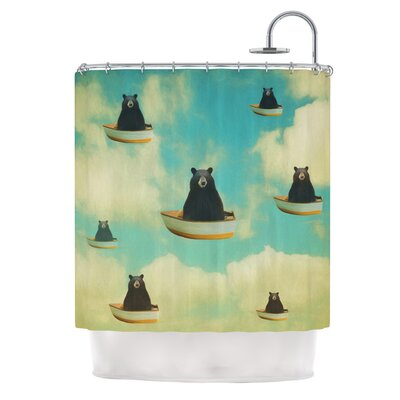 Bears by Natt Floating Animals Shower Curtain