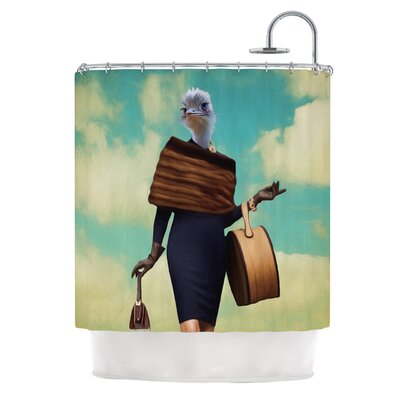 Passenger 1A by Natt Ostrich Shower Curtain
