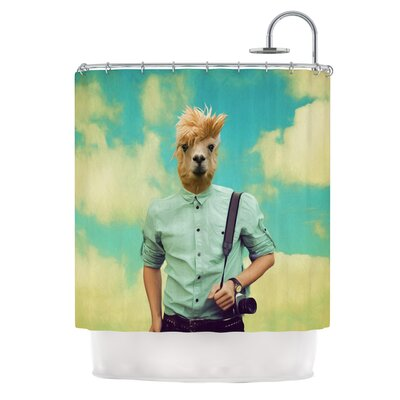 Passenger 1B by Natt Llama Shower Curtain