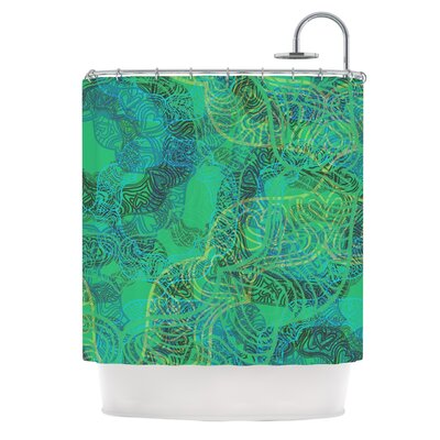 Mandala by Patternmuse Abstract Shower Curtain
