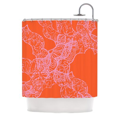 Mandala Pumpkin by Patternmuse Shower Curtain